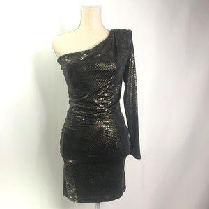 Arden B Off Shoulder Sequence Dress